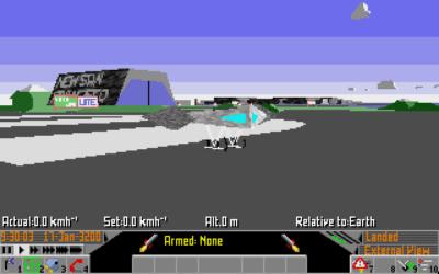 I MS-DOS-versjonen var enkelte overflater teksturerte. Bilde: Mobygames.