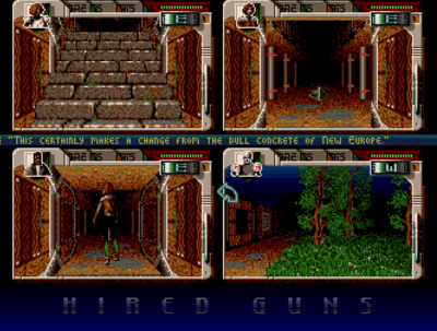 Hired Guns på Amiga.