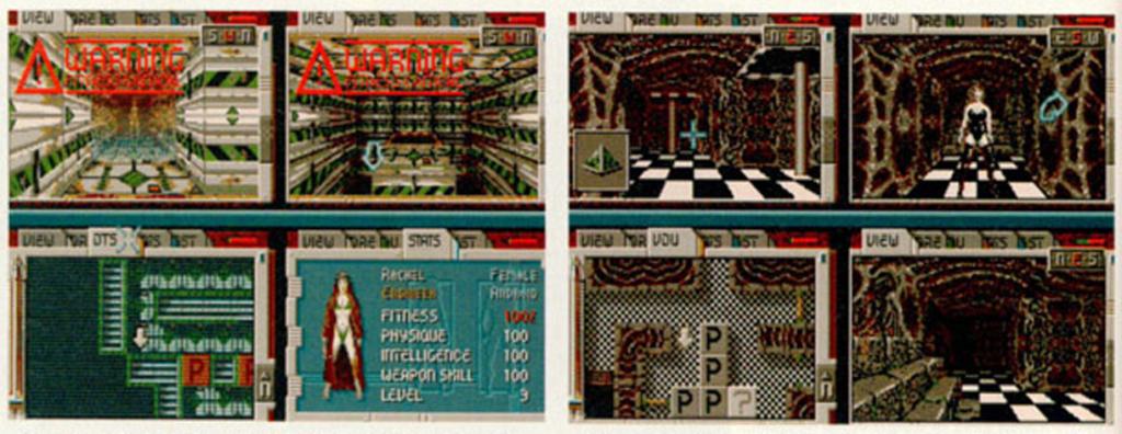 Disse bildene fra en sniktitt viser at de kvinnelige figurene hadde litt mindre tøy enn i den endelige versjonen.