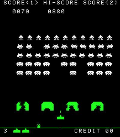 Ved hjelp av en tynn plastfilm klistret på skjermen, fikk spillet litt farge. Bilde: Wikipedia.