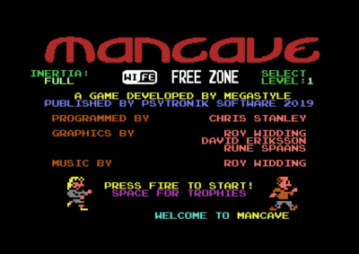 The animated title screen.