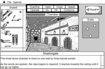 Slik så Shadowgate ut på Mac.
