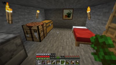Det første rommet.