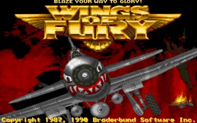 Wings of Furys tittelskjerm på Amiga.