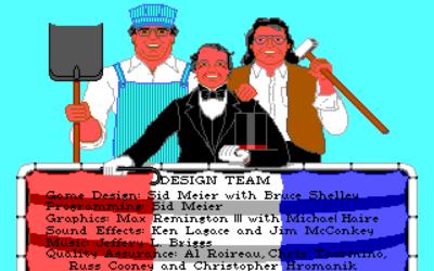 Utviklerne bak originalversjonen. Fra venstre: Bruce Shelley, Sid Meier og Max Remington.