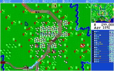 Her er Amiga-versjonen. Man kan tjene penger på både passasjerer, post og gods.