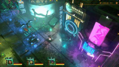 Jepp, cyberpunk-estetikken er i orden. Spillet ser faktisk veldig bra ut i bevegelse.