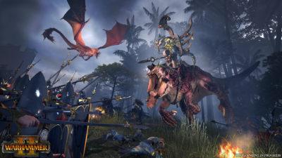 Alt går i Total Warhammer II.