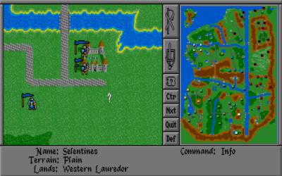 MS-DOS-versjonen av Warlords.