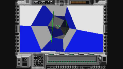 Deler av spillet foregår i Descent-aktige tunneller.