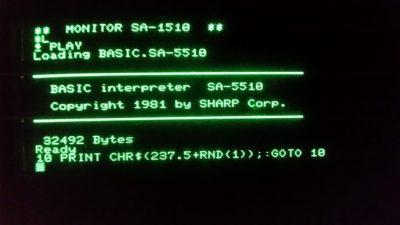 Et av de mest kjente BASIC-programmene gjennom tidene, her adaptert for min MZ-80A.